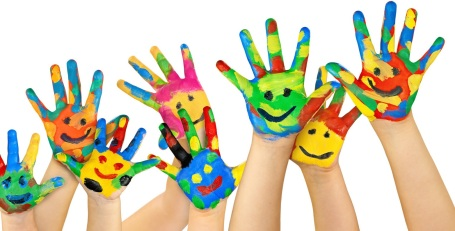 Painted hands in the air, kurdishmother, tara miran, learning, fun